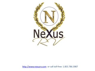 RV Consignment and Motorhome Consignment at NeXus RV