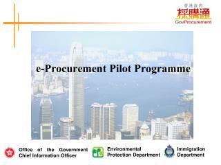 e-Procurement Pilot Programme
