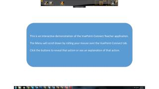 This is an interactive demonstration of the  VuePoint -Connect Teacher application.