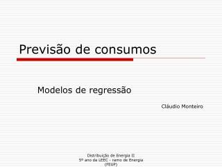 Previsão de consumos