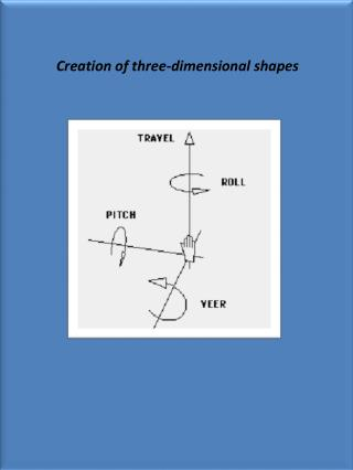 Creation of three-dimensional shapes