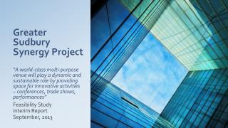 Feasibility Study  Interim Report September, 2013