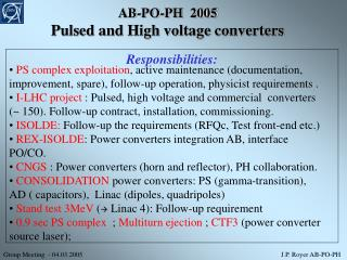 AB-PO-PH  2005 Pulsed and High voltage converters