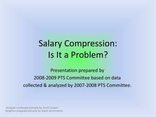 Salary Compression: Is It a Problem