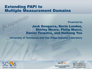 Extending PAPI to Multiple Measurement Domains