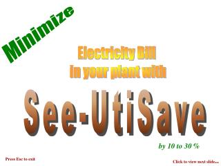 Electricity Bill  in your plant with