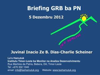 Briefing GRB ba PN