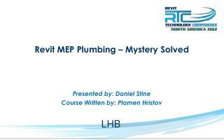 Revit MEP Plumbing – Mystery Solved