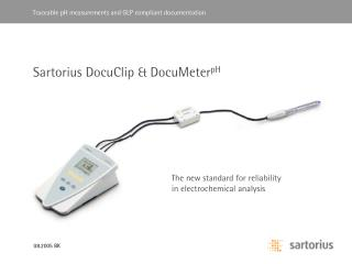 Sartorius DocuClip & DocuMeter pH