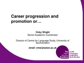 Career progression and promotion or