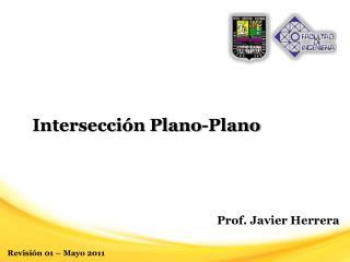 Intersección  Plano-Plano