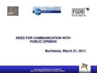 Bucharest, March 31, 2011