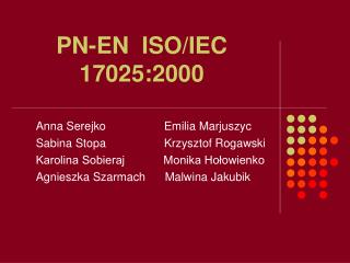 PN-EN  ISO/IEC  17025:2000