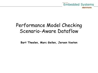 Performance Model Checking Scenario-Aware Dataflow