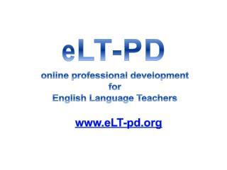 online  professional development  for  English  Language  Teachers
