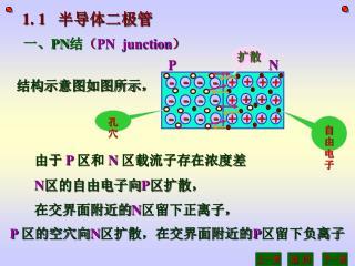 一、 PN 结 ( PN  junction )
