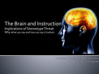 Professional Development for Instructors By: Emil L. Cunningham