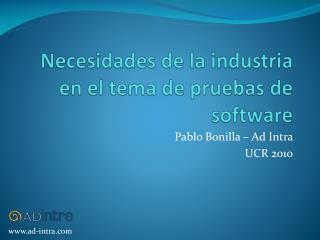 Pablo Bonilla – Ad Intra  UCR 2010