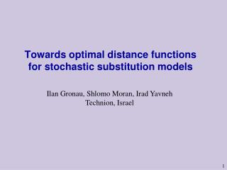 Towards optimal distance functions for stochastic substitution models