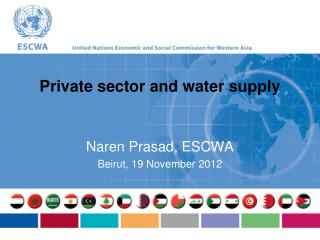 Private sector and water supply