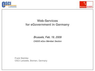 Web-Services  for eGovernment in Germany
