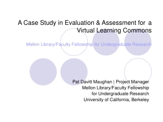 Assessing the Impact of Undergraduate Research on Student Learning  and Campus Culture