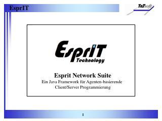Esprit Network Suite Ein Java Framework für Agenten-basierende Client/Server Programmierung