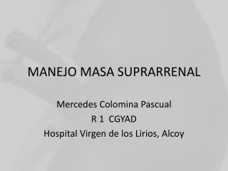MANEJO MASA SUPRARRENAL