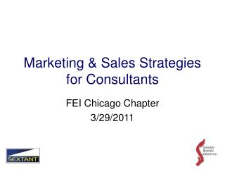 Marketing & Sales Strategies for Consultants
