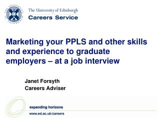Marketing your PPLS and other skills and experience to graduate employers – at a job interview