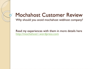 mochahost customer review