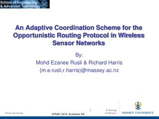 An Adaptive Coordination Scheme for the Opportunistic Routing Protocol in Wireless Sensor Networks