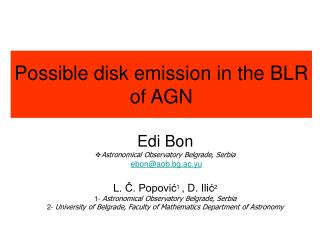 Possible disk emission in the BLR of AGN
