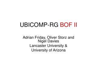 UBICOMP- RG  BOF II