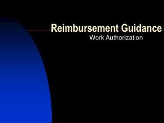 Reimbursement Guidance