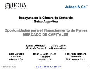 Desayuno en la Cámara de Comercio Suizo-Argentina