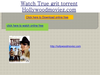 Watch True grit torrent