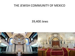 THE JEWISH COMMUNITY OF MEXICO           39,400 Jews