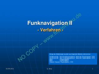 Funknavigation II  - Verfahren -
