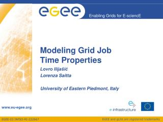 Modeling Grid Job Time Properties