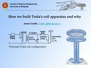 How we built Tesla's coil apparatus and why