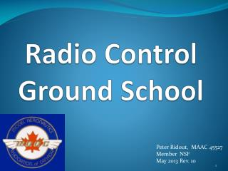 Radio Control Ground School