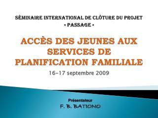 16-17 septembre 2009