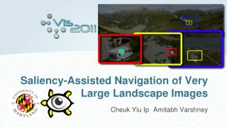 Saliency-Assisted Navigation of Very Large Landscape Images