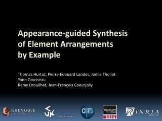 Appearance-guided Synthesis of Element Arrangements by Example
