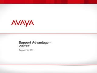 Support Advantage –  Overview