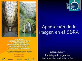 Aportación de la imagen en el SDRA