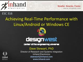 Achieving Real-Time Performance with  Linux/Android or Windows  CE