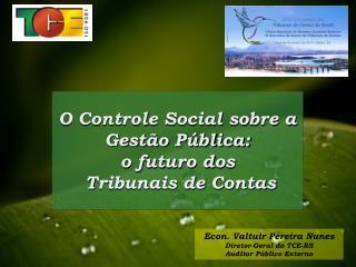 O Controle Social sobre a Gestão Pública:  o futuro dos  Tribunais de Contas