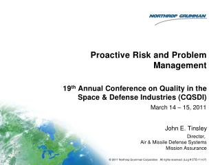 Proactive Risk and Problem Management